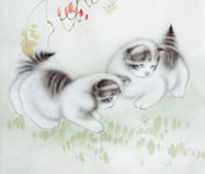 Chinese cat paintings