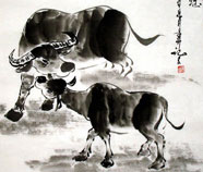 Chinese cow paintings
