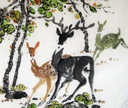 Chinese deer paintings