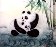 Chinese panda paintings