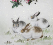 Chinese rabbit paintings