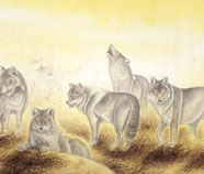 Chinese wolf paintings