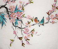 Chinese birds paintings