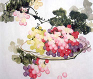 Chinese fruit and vegetables paintings