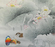 Chinese mandarin duck paintings
