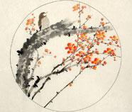 Chinese flowers paintings