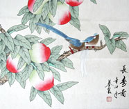 Chinese peach paintings