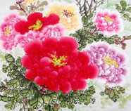 Chinese peony paintings