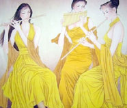 Chinese beautiful ladies paintings