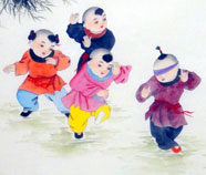 Chinese boys paintings