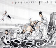 Chinese eight immortals paintings
