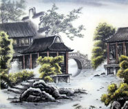 Chinese buildings paintings