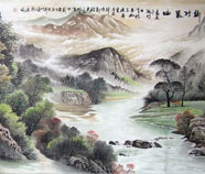 Chinese mountains and water paintings