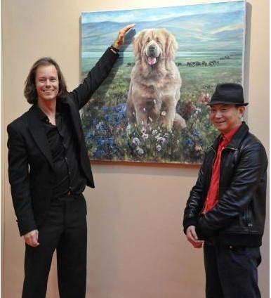 Lin Yue Tibetan mastiff painting