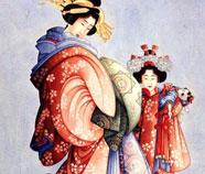 Japonisme Olieverfschilderij