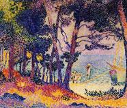 Pointillisme Olieverfschilderij