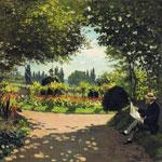 Adolphe Monet Lectura En El JardíN