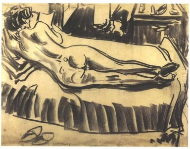 Reclining Female Nude On A Couch