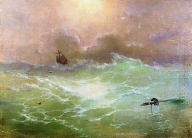 Ship In A Storm 1896