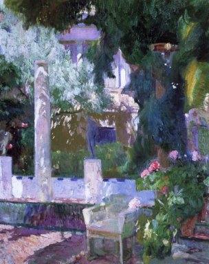 Rose Bush At The Sorolla House 1918