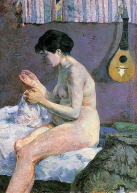 suzanne sewing study of a nude 1880