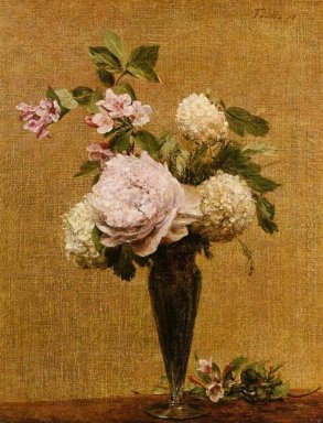Vase Of Peonies And Snowballs 1878