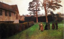 A Game Of Bowl Ightham Mote Kent 1889