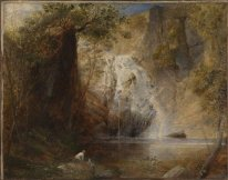 The Waterfalls, Pistil Mawddach, North Wales 1836