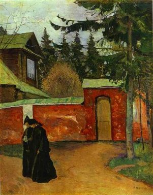 By A Monastery Entrance 1925