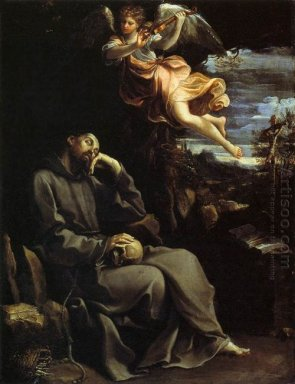 St Francis Consoled By Angelic Music 1610