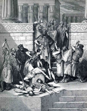 Slaughter Of The Sons Of Zedekiah Before Their Father 1866