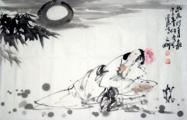 Sleeping Beauty - Chinese Painting