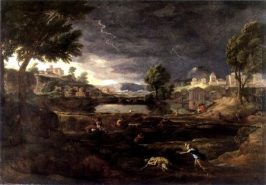 Stormy Landscape With Pyramus And Thisbe 1651