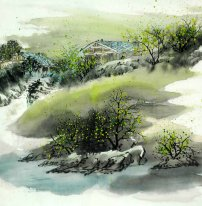 A Courtyard - Chinese Painting