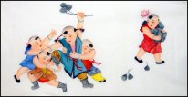Boys - Chinese Painting