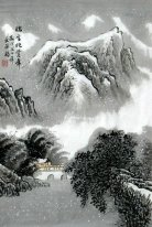 Mountain in the snow - Chinese Painting