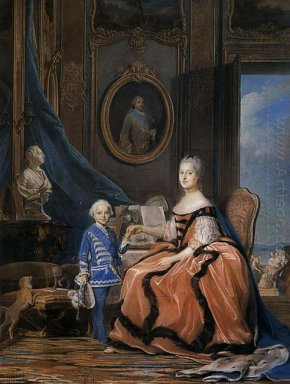Marie Josephe Of Saxony Dauphine And A Son