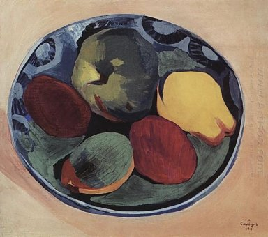 Fruits On The Blue Plate 1915