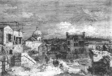 imaginary view of venice