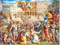 Catherine of Siena escorted pope Gregory XI at Rome on 17th Janu