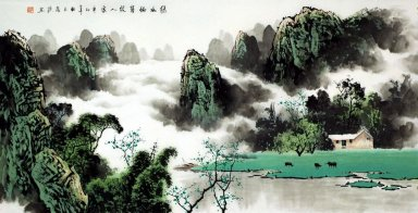 Mountains, river - Chinese Painting