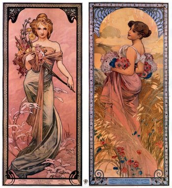 the seasons spring summer 1898