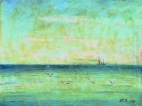 Landscape with seagulls