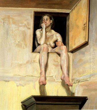 Girl Sitting In The Attic Doorway