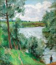 On The River Protva Fisherman 1953