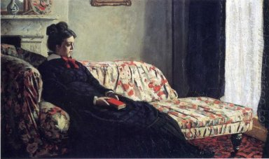 Meditation Madame Monet Sitting On A Sofa 1871