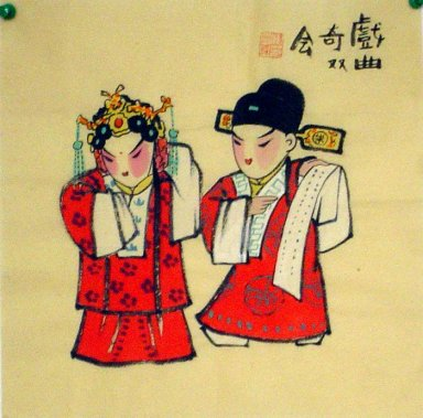 Opera characters - Chinese painting