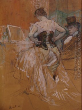 "Study for ""Elles\"" (Woman in a Corset) 1896"