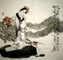 Tired girl-Pijuan - Chinese Painting