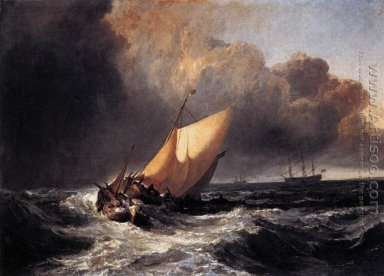 Dutch Boats in a Gale 1801